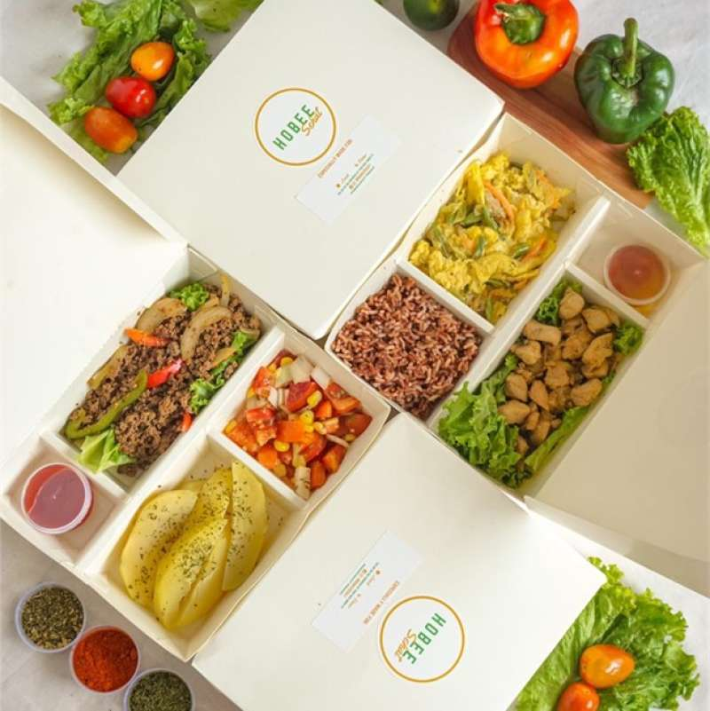 Hobee Sehat Lunch & Dinner Combo Healthy Catering [20 Days/ 40 Box]