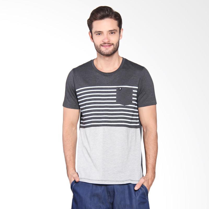 Famo Casual Printed Basic Tee - Grey [512051712]