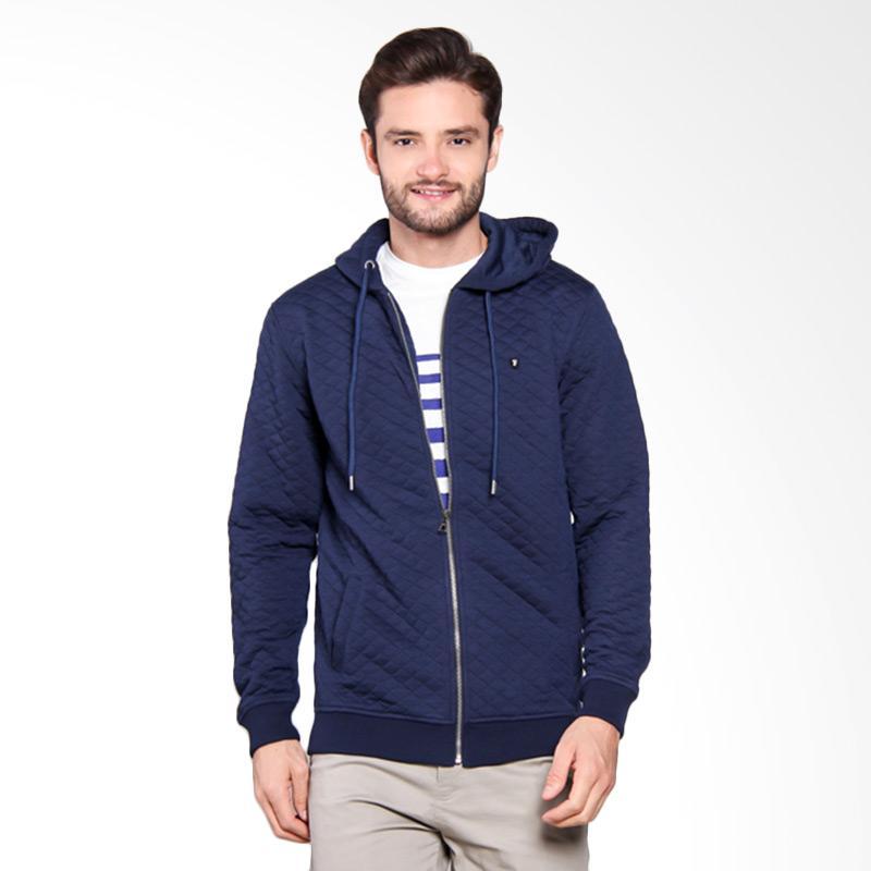 Famo Basic Casual Outwear - Blue [534051715]