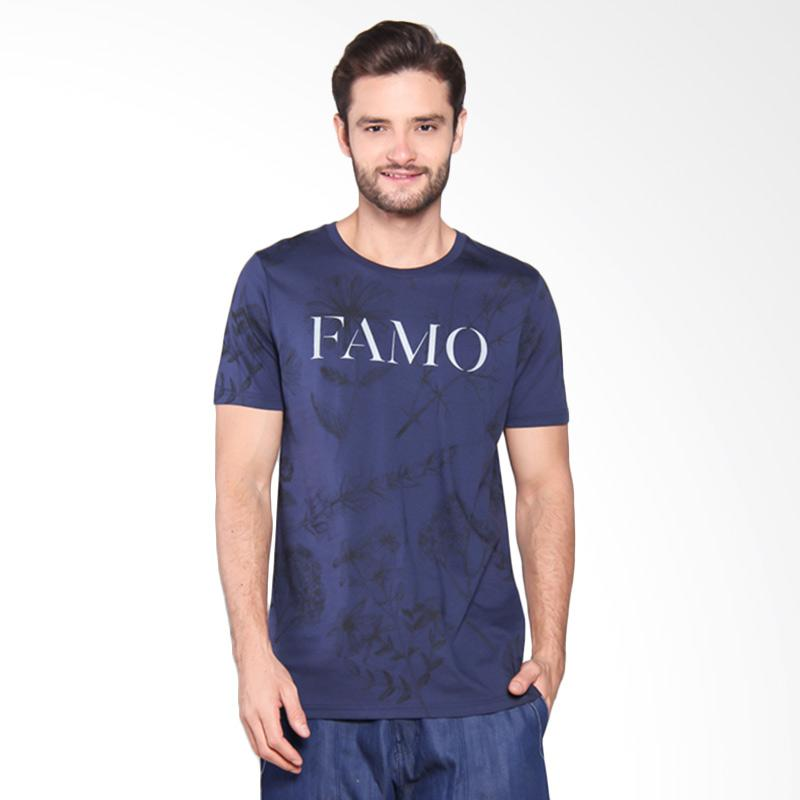 Famo Casual Basic Relaxed Tee - Blue [514051712]