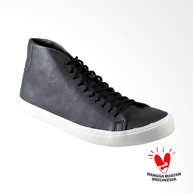 Dane and Dine Bleka High Sepatu Pria - Black White
