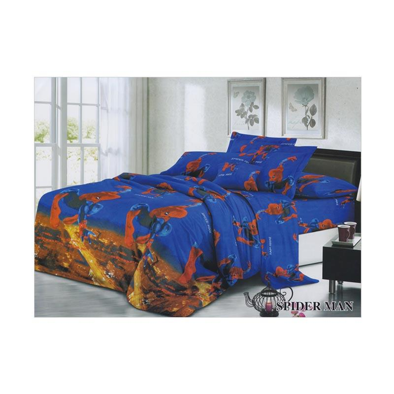 Khawla Disperse Spiderman Set Sprei dan Bed Cover