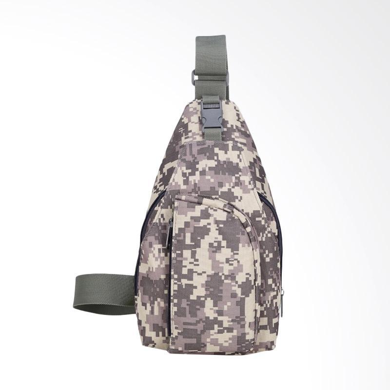 Army Crossbody Bag / Slingbag Tas Selempang Pria - Grey