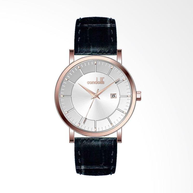 Condotti CN1029-RG02-L03 Leather Jam Tangan - Black