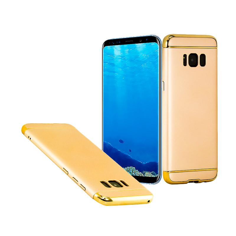 OEM Case 3 in 1 Plated PC Frame Bumper with Frosted Hardcase Casing for Samsung S8 - Gold
