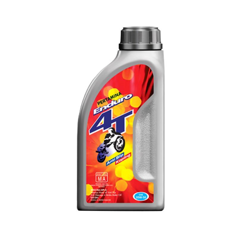 Enduro Pertamina 4T 20W-50 Oli Motor [0.8 Liter/Gratis Pengiriman]