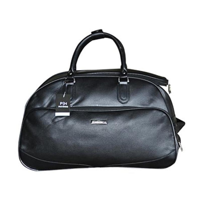harga Polo Homme WT-20859 Kulit Leather Troli Luggage Cabin Tas Travel Trolley Bag - Hitam Blibli.com