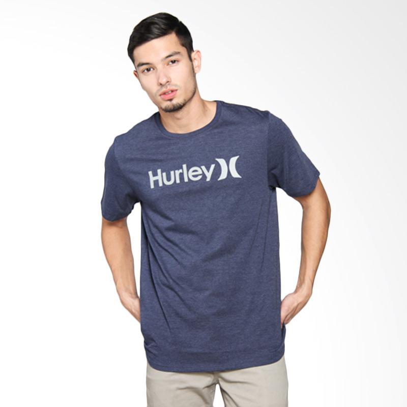 Hurley OO SEA Heather T-Shirt Pria - Obsidan Heather AMTSPOSH4 4AC