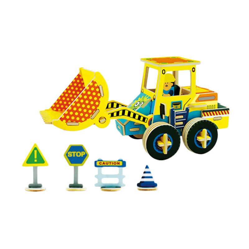 Robotime VC402 DIY 3D Color Wooden Construction Loader Mainan Block dan Puzzle