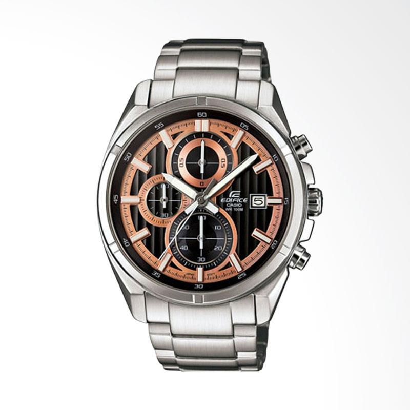CASIO EDIFICE Chronograph Bahan Tali Stainless Steel Jam Tangan Pria - Silver EFR-532D-1A5VUDF