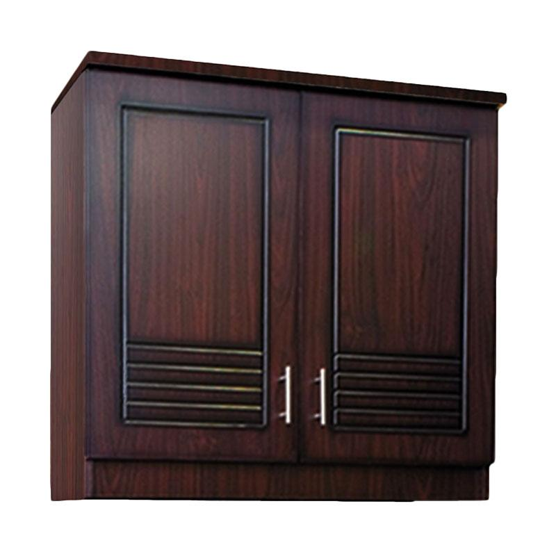 Kirana UK 912 Kitchen Set Lemari Atas - Dark Mahogany [2 Pintu]