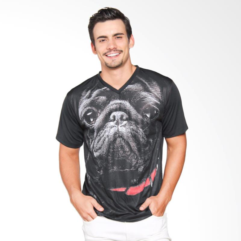 EpicMomo Dog4 T-Shirt Pria - Black AD.00133