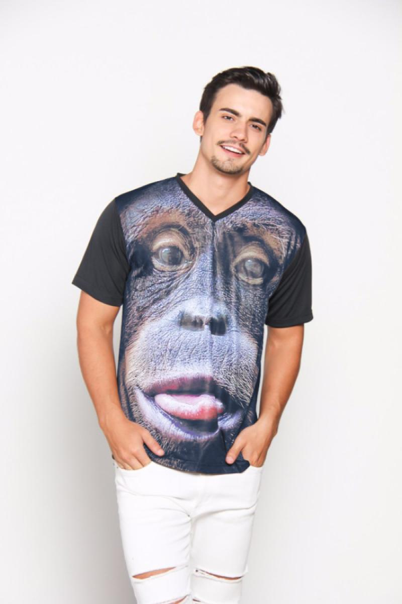 EpicMomo Monkey1 T-Shirt Pria - Black AD.00119