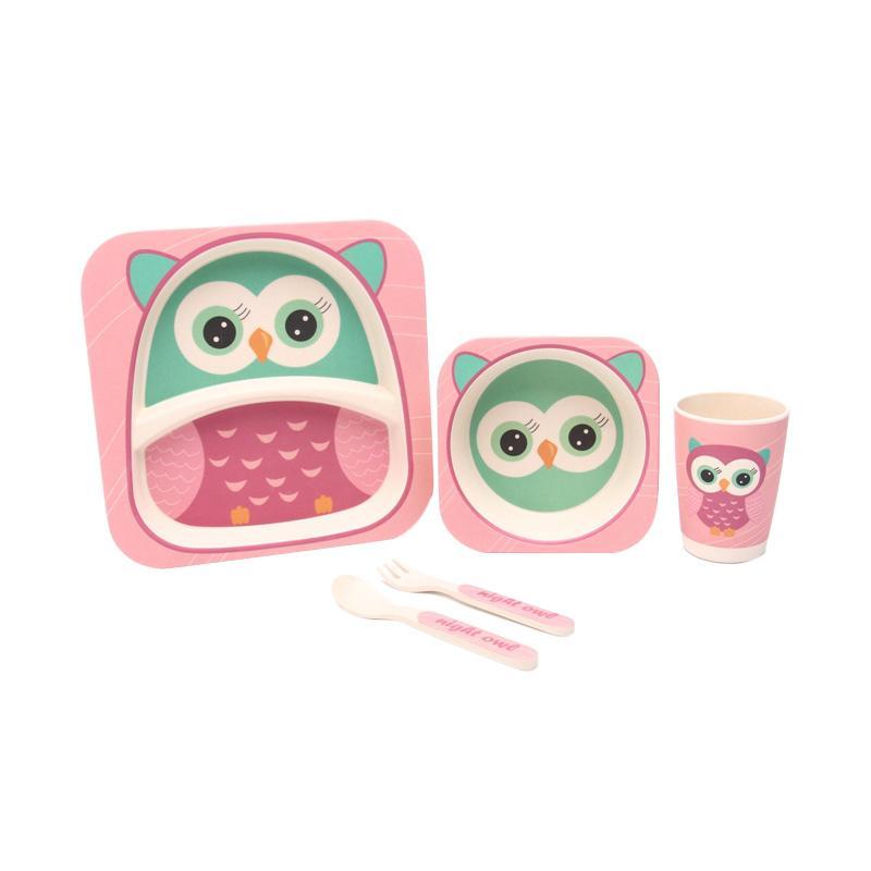 HAN AYC Bamboo Fiber Kids Set Dinnerware Peralatan Makan Anak - Multicolor