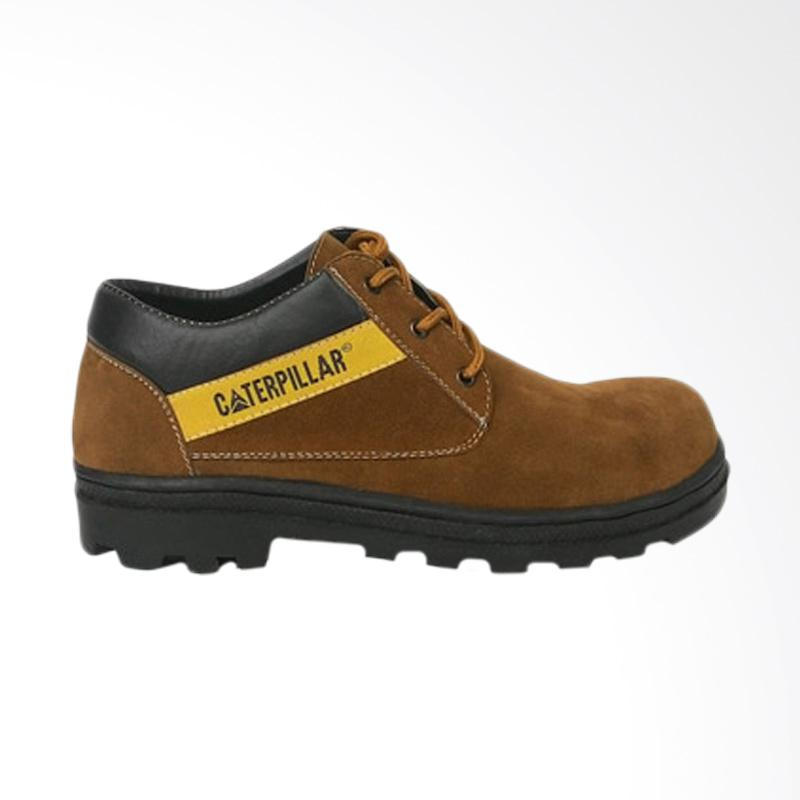 Caterpillar low Safety Boots Outdoor Suede Leather Sepatu Pria