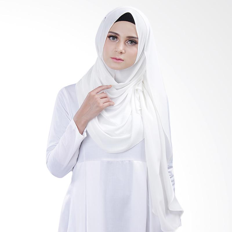 Cantik kerudung Bella Queen Hijab Instant - White No.1