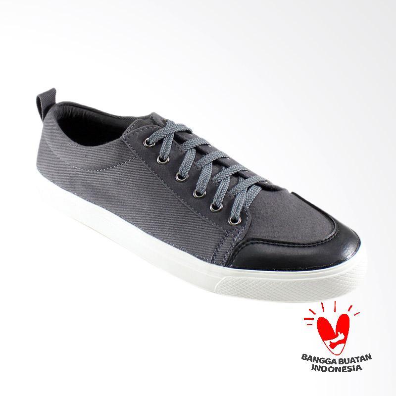 Dane And Dine Keta Sneaker Pria - Grey