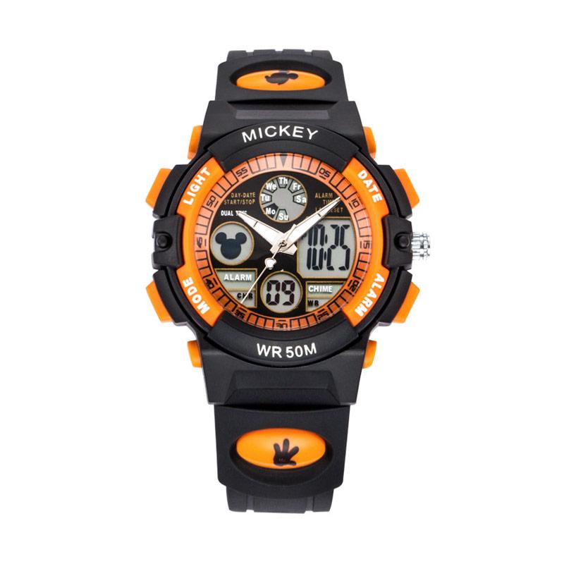 Disney MS15014-O Mickey Jam Tangan Sports Anak - Hitam Orange
