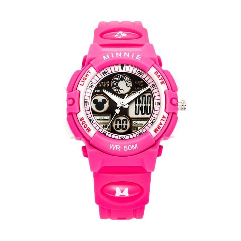 Disney MS15014-J Minnie Jam Tangan Sports Anak - Hot Pink