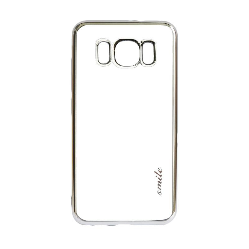 SMILE Ultrathin Shining List Chrome Softcase Casing for Samsung Galaxy S8 - Silver