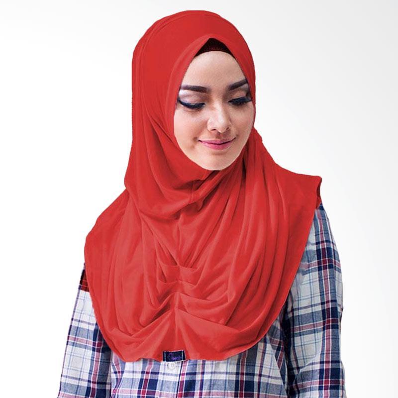 Milyarda Hijab Loly Jilbab Instant - Merah