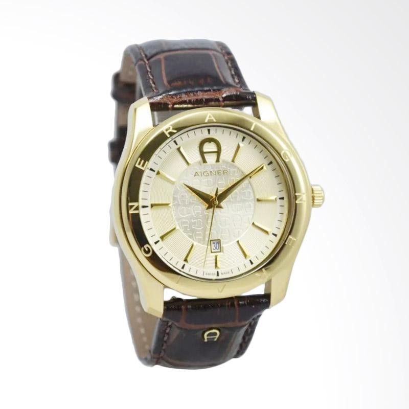 Aigner Lazio II Jam Tangan Pria - Brown Gold AGA32189B