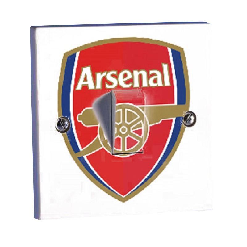 OEM Motif Klub Bola Arsenal Tombol Lampu Stiker