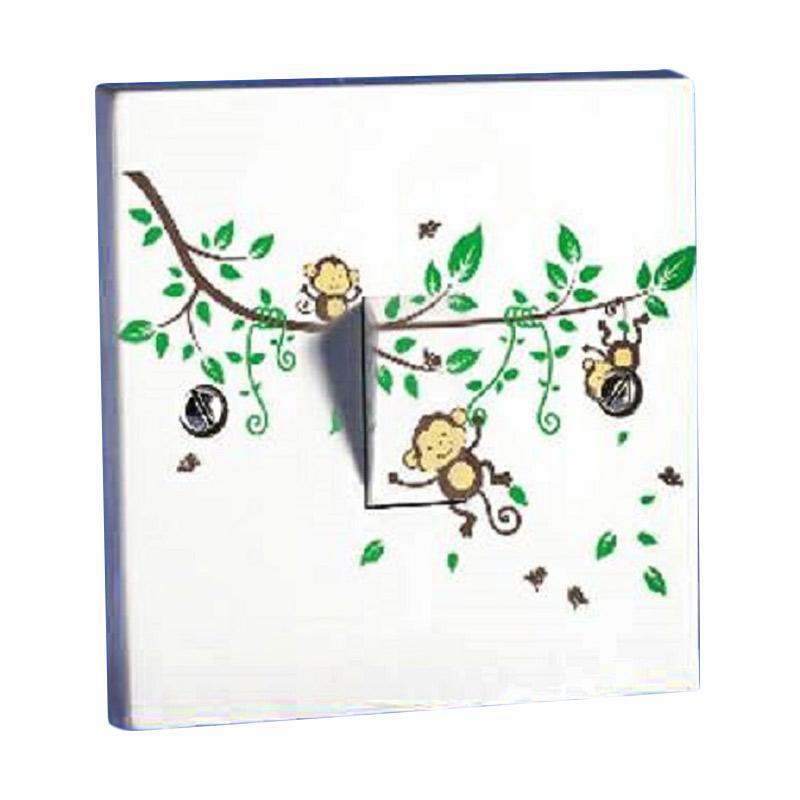 OEM Monkey Monyet Pohon Saklar Lampu Sticker