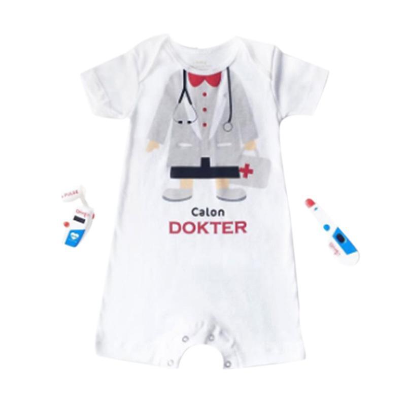 9291a52ad Jual J Baby 0275 Romper Calon Dokter Boy Baju Jumpsuit Anak - Putih ...