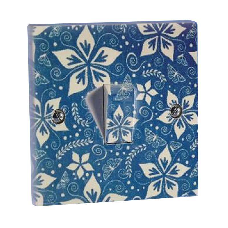 OEM Motif Batik Biru Stiker Saklar Lampu