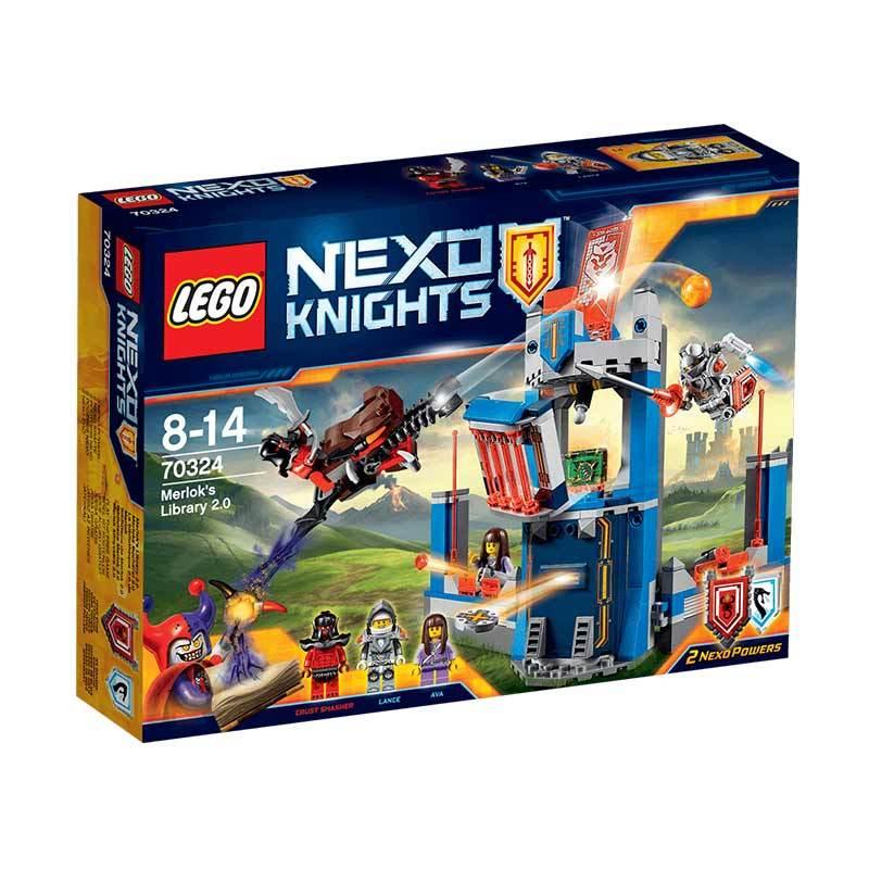 LEGO Nexo Knights Merlok s Library 2 0 70324 Mainan Blok Puzzle