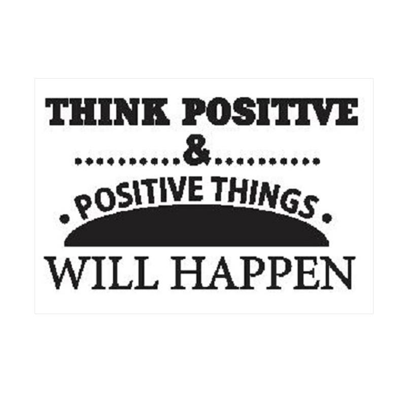 OEM Quotes Positive Thinking Wall Sticker Dekorasi Dinding