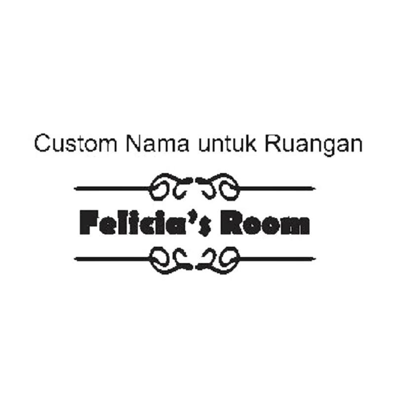 OEM Custom Nama Pintu Ruangan Cutting Stiker