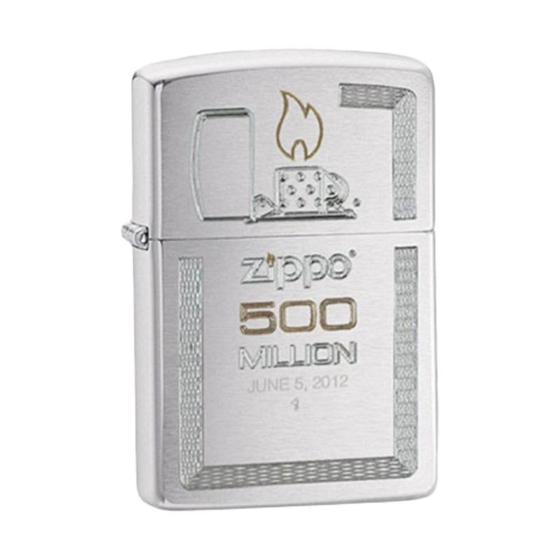 Zippo Brushed Chrome 500 Millionth Lighter - Silver