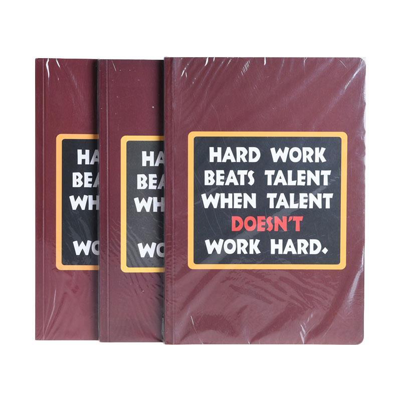 Karisma Exclusive Set Buku Tulis Hard Work, Beats Talent  [A5/80 g/3 Pcs] - 746504