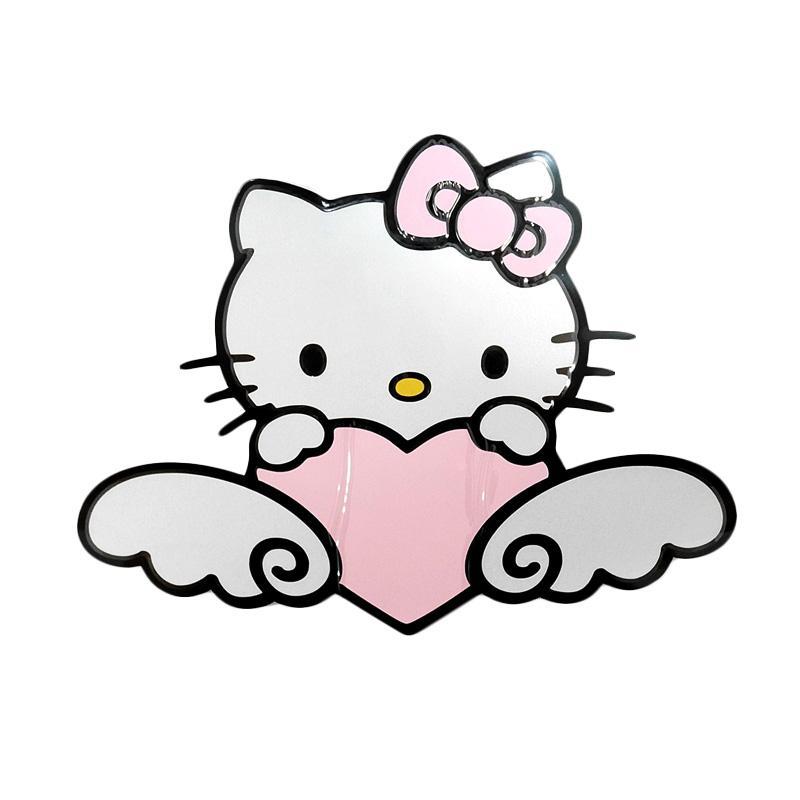 SIV STI-HK404 PK Motif Kitty Sticker Mobil Universal - Pink [Medium]