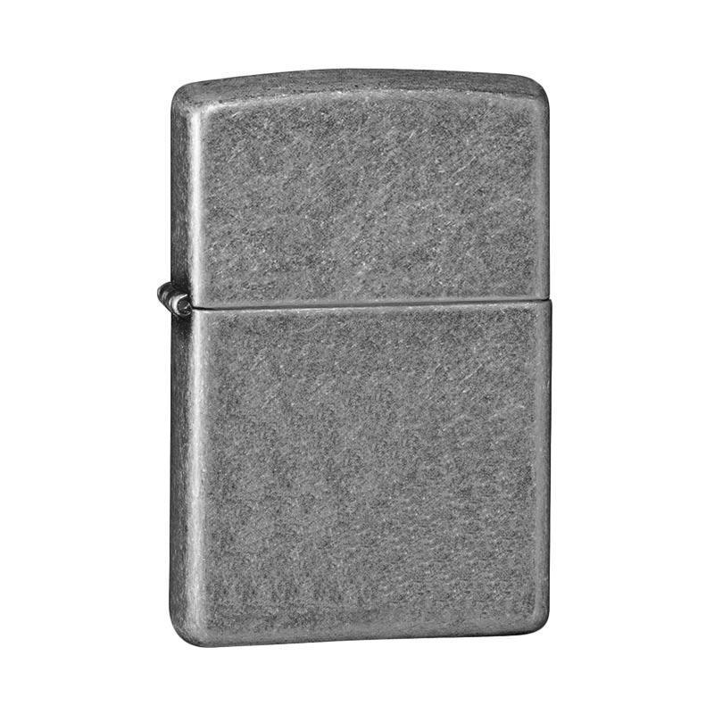 Zippo Antique Lighter - Silver Plate