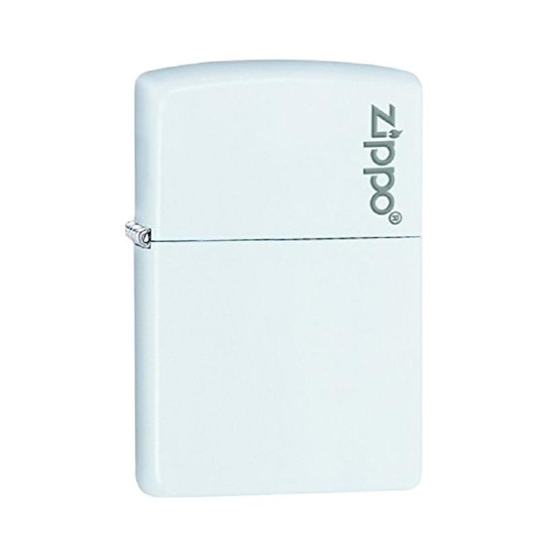 Zippo Matte Logo Pocket Lighter - White