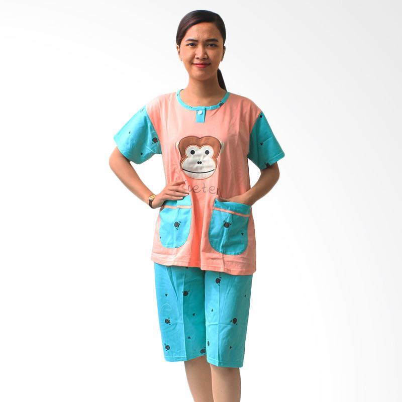 Aily Monkey 513 Setelan Baju Tidur Wanita - Peach