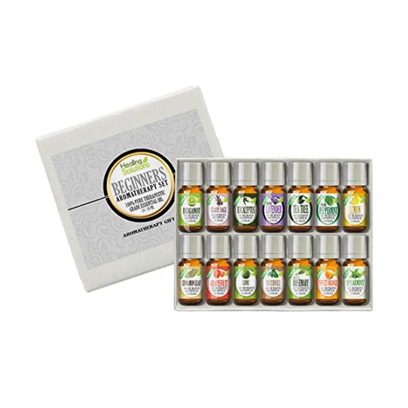 Healing Solutions Beginners Aromatherapy Essential Oil Kit [Pack of 14/10 mL]