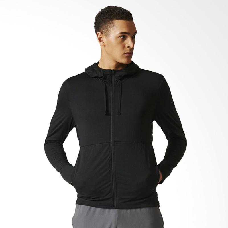 Adidas Hooded Workout Track Fz Jaket Olahraga Pria Cd8839