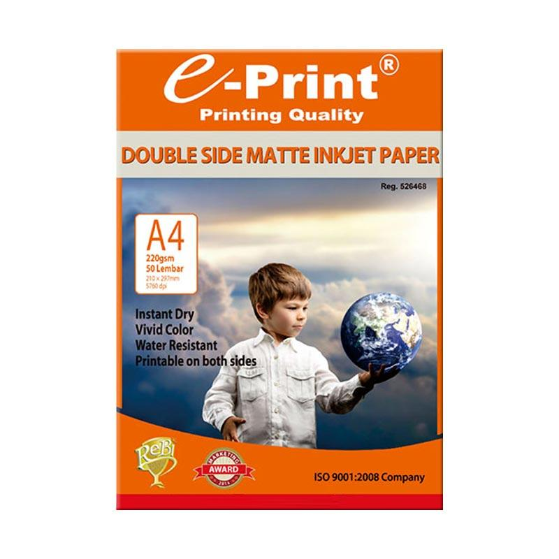E-Print Double Side Matte Inkjet Paper A4 [220 gsm/50 Sheet]