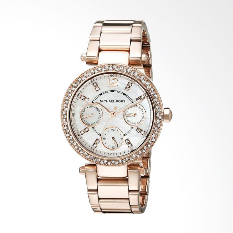 Michael Kors MK5616 Parker Analog Display Quartz Women's Watch Jam Tangan Wanita - Rose Gold