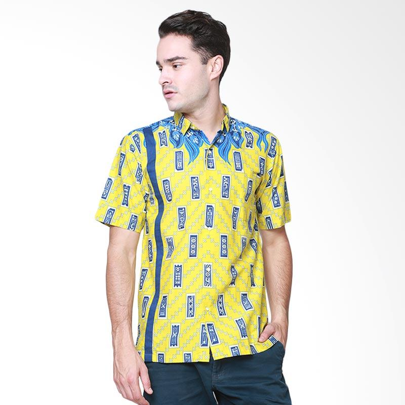 Days by Danarhadi Men Kerton Sinebar High Neck Baju Batik Pria - Yellow