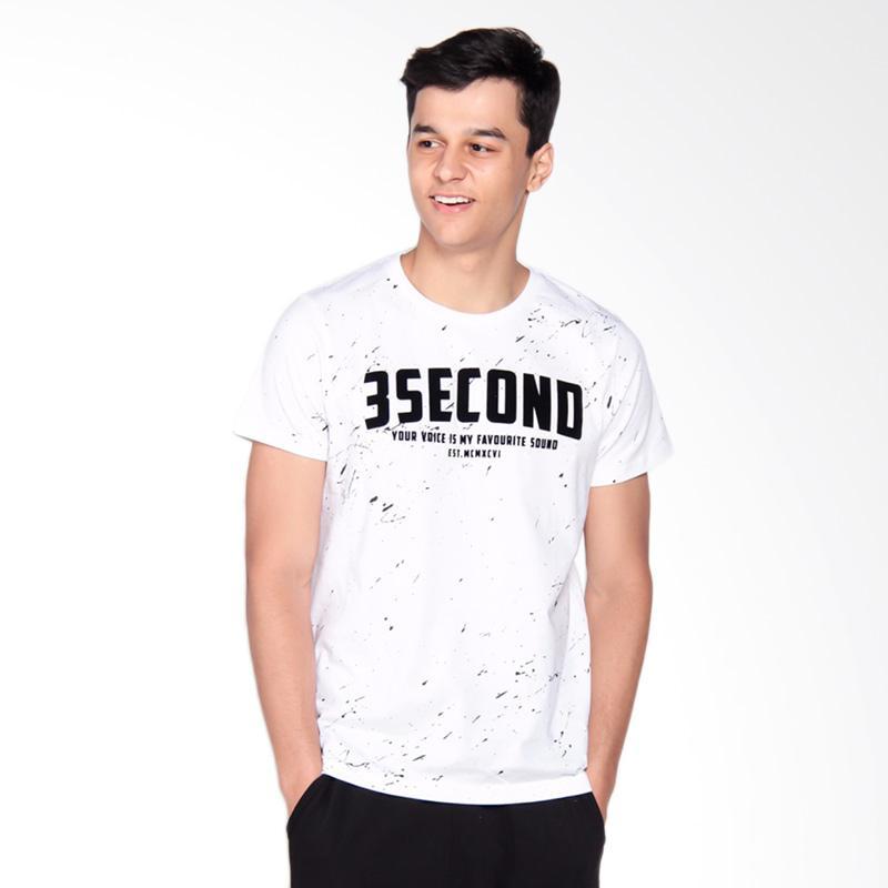 3SECOND 3008 T-Shirt Pria - White 119081712
