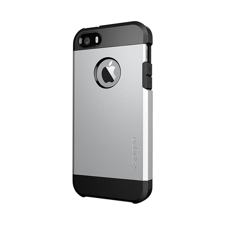Spigen SGP10491 Tough Armor Casing for iPhone 5 or 5S - Satin Silver