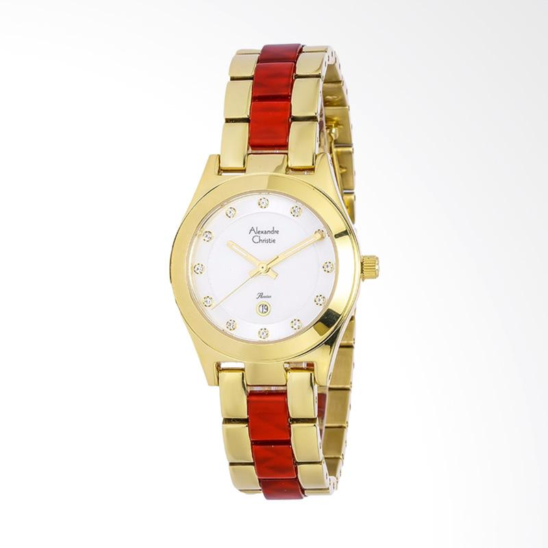 Alexandre Christie ACF-2477-LDBGPMSRE Ladies Passion Dual tone Stainless Steel Jam Tangan Wanita - Gold