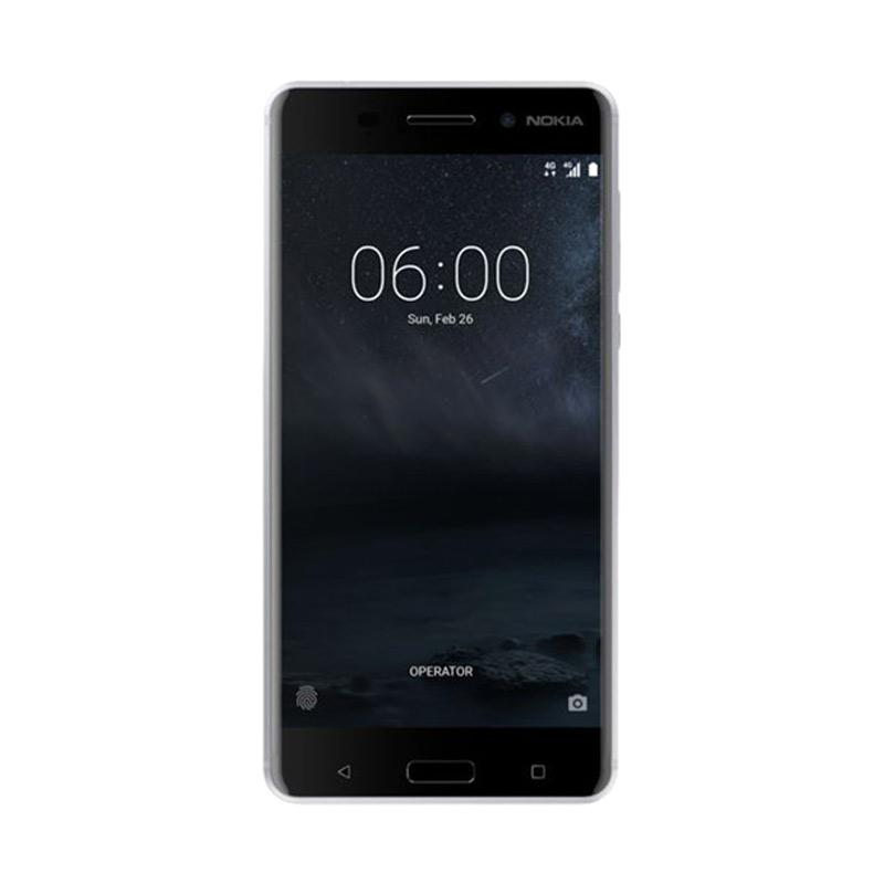 Nokia 6 Smartphone - Silver [32GB/3GB/RESMI]