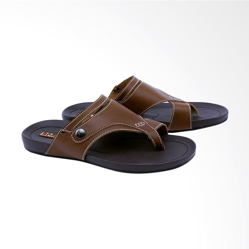 Garsel Sandal Kasual Pria - Coklat GAS 3407