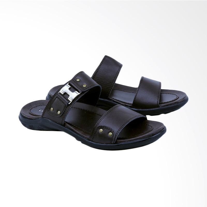 Garsel Sandal Kasual Pria - Coklat GJY 3418